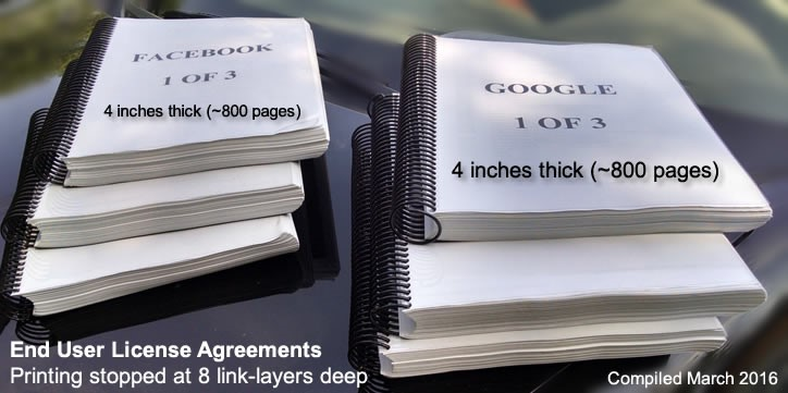 Facebook Google License Agreements