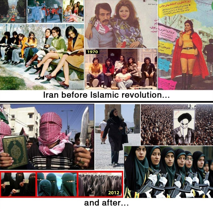 Iran before and after 1