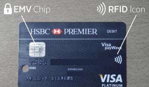RFID chip in credit card