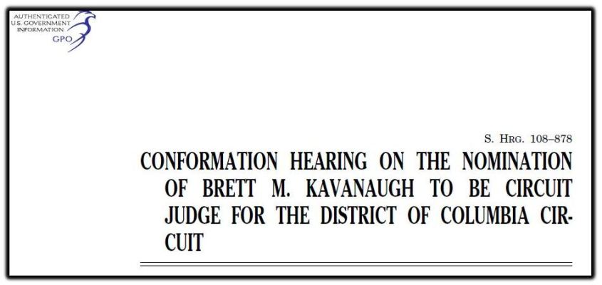Kavanaugh confirmation hearing 1