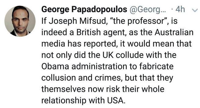 George P tweet