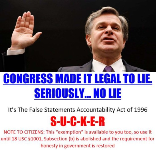 christopher wray lies