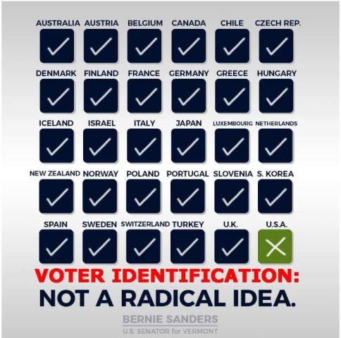 bernie voter id election