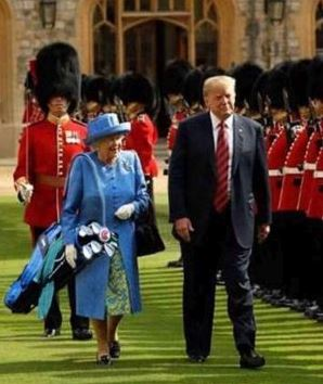 queen golf bag trump