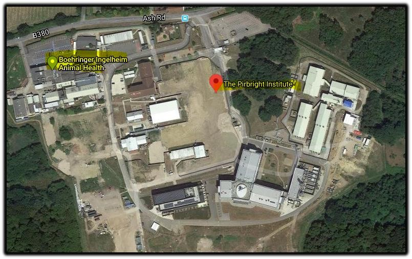 aerial view pirbright