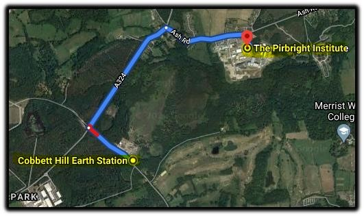 map cobbet pirbright