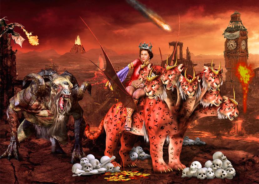 Queen Elizabeth the Whore of Babylon giorgio