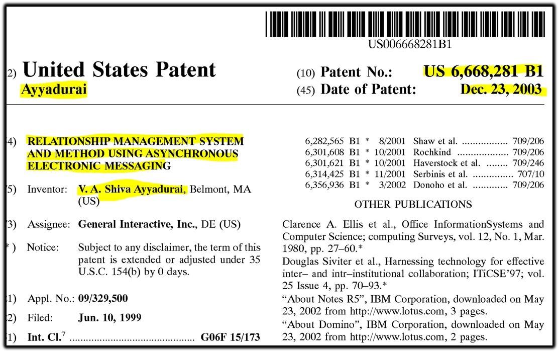 shiva patent