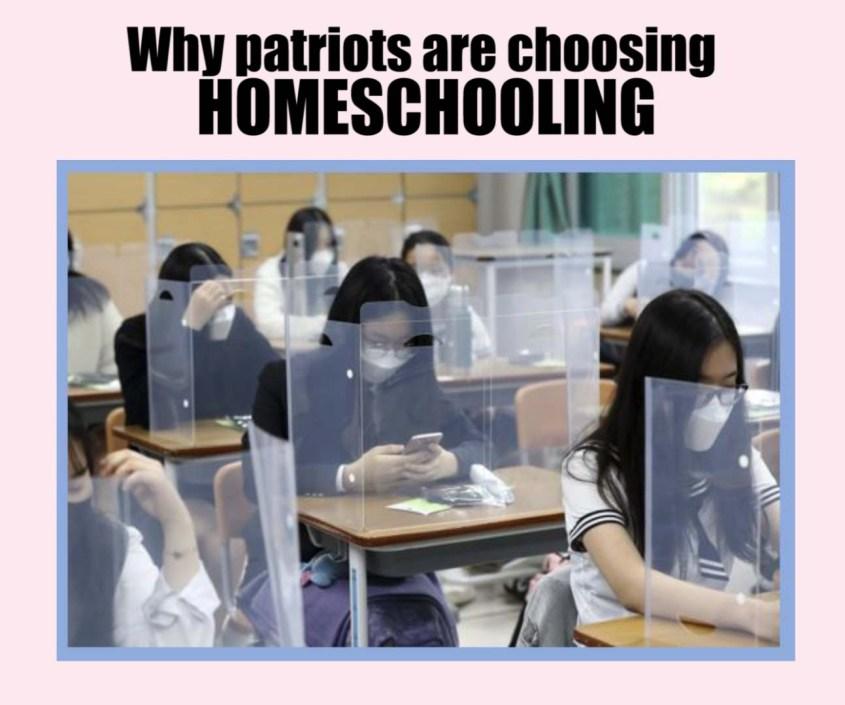 homeschool classrom plexiglass